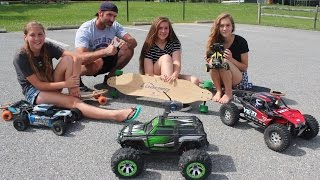Father & Daughter RC Bash - Longboard Pull - Racing & More