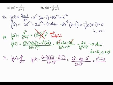 Derivative rules quotient rule finding horizontal tangents derivative rules quotient rule finding horizontal tangents ccuart Images