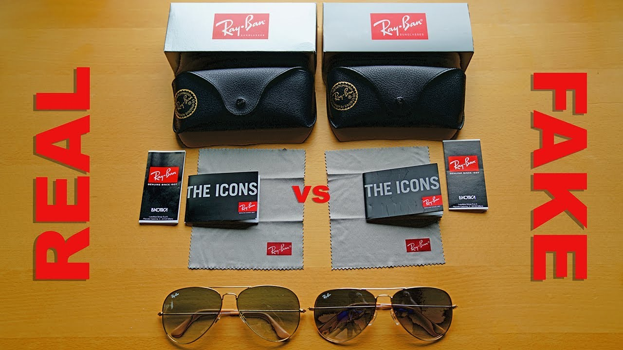 b822e12b2 How to Spot Fake Ray Ban Aviators in 4K - Sunglass Hut vs eBay - YouTube