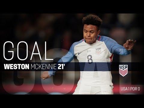 MNT vs. Portugal: Weston McKennie Goal - Nov. 14, 2017