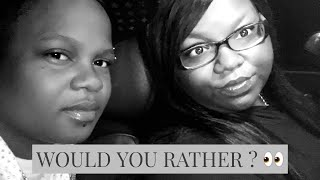 WOULD YOU RATHER ? { SHOWER SEX OR COUNTER SEX?} | Lala & B