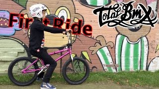 New Bike First Ride | Riding BMX with Roo !