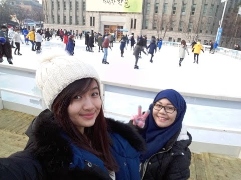 LIFE IN KOREA: ICE SKATING, CHEONGGYECHEON STREAM & K-WINTER FESTIVAL VLOG (21.12.2015 & 22.12.2015)