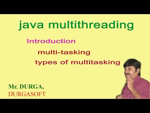 (Java multithreading) Introduction and multitasking & types of multitasking by Durgasir