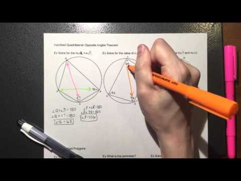 Inscribed and Circumscribed Triangles and Quadrilaterals