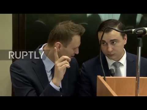 Russia: Navalny in court to face Usmanov's defamation claims