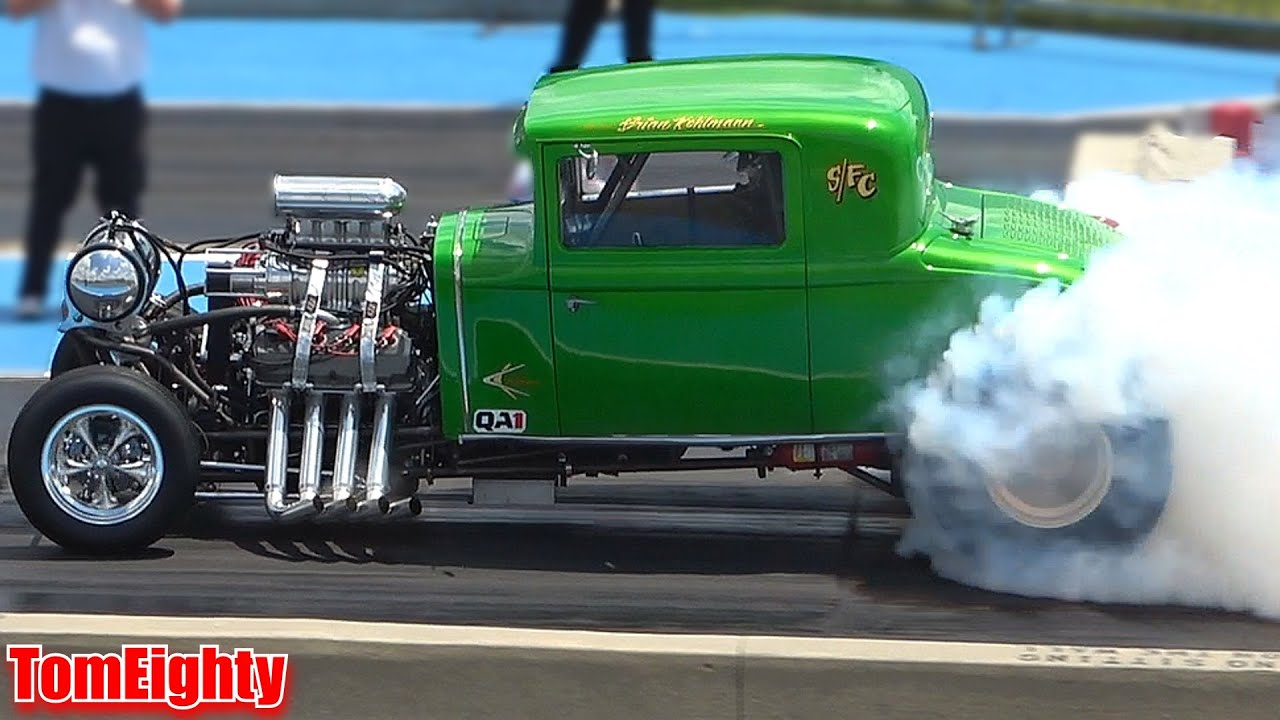 Famoso Speed Shop 1966 Mustang Racing At Out A Sight Drags Youtube