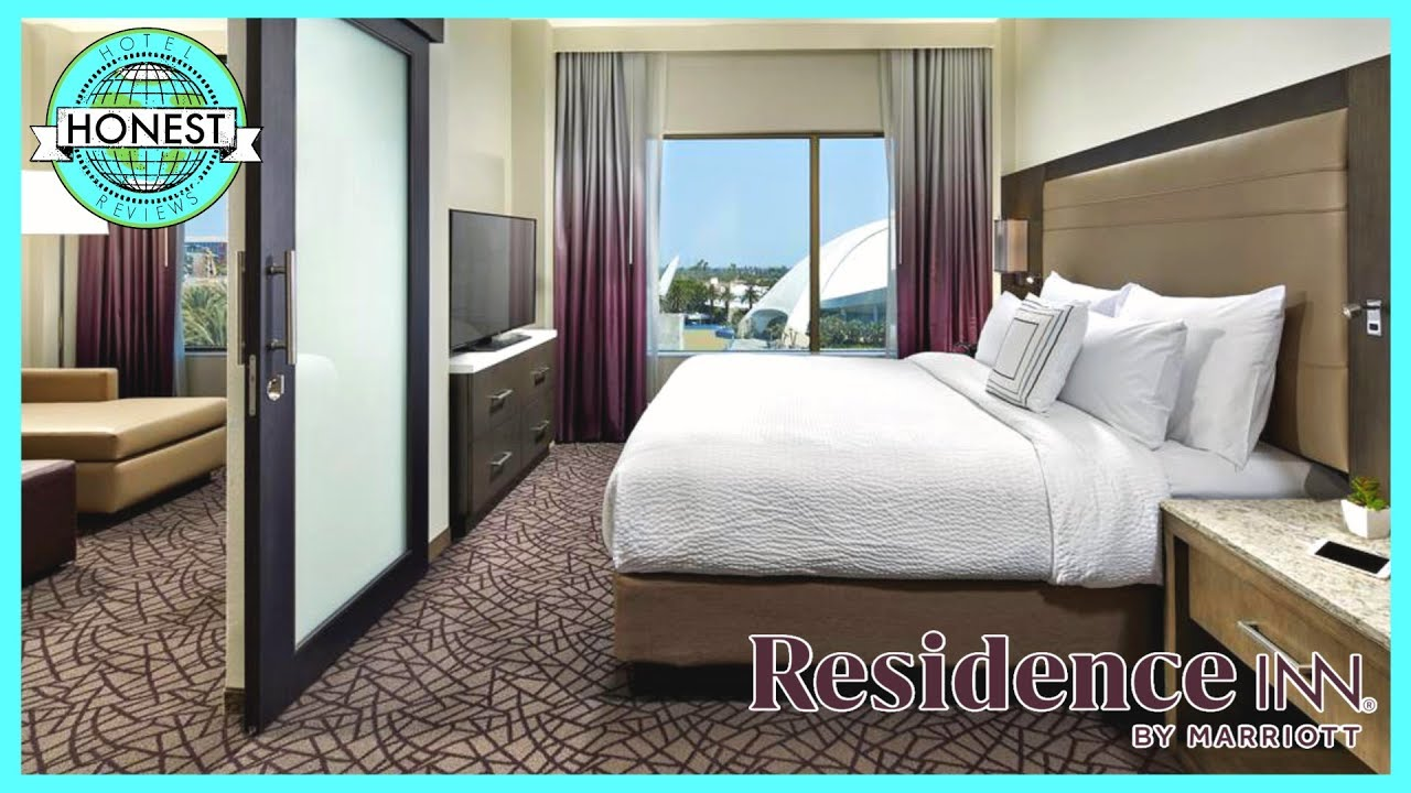 Residence Inn Anaheim Room Tour Review One Bedroom King Suite Youtube