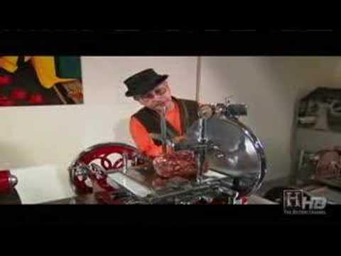 Emilio Mitidieri Demos Antique Berkel Meat Slicer