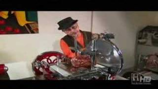 Emilio Mitidieri Demos Antique Berkel Meat Slicer