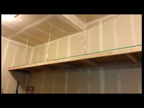 How To Build A Strong Cheap Shelf Using Chains To Support
