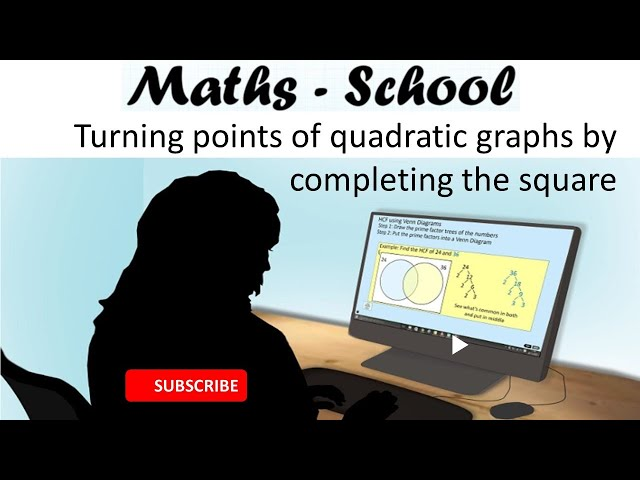 Turning Points of quadratic graphs GCSE Maths Revision Lesson (Maths - School)