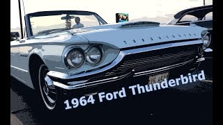 1964 Ford Thunderbird -- diamond blue convertible
