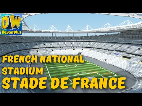 Minecraft  MEGABUILD - Stade de France EURO 2016 (France National Stadium) + DOWNLOAD
