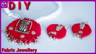 DIY Cotton Fabric Necklace Making | Handmade  Jewellery Making