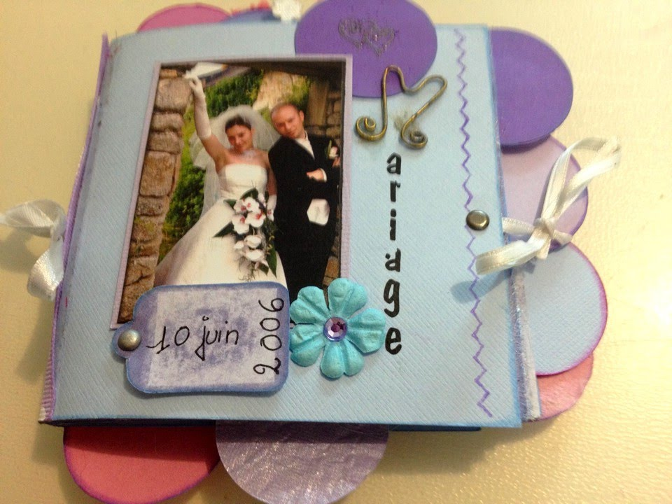 scrapbooking debutant     comment faire un mini album