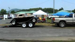 New Easy Load Rollback Trailer Loading a 1934 Ford