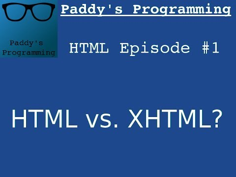 #1 - Introduction to HTML/XHTML