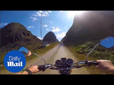 3000 miles in four minutes: Traveller films Asia trip from motorbike - Daily Mail