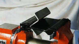 Homemade tools vice mounted Press Brake metal bender