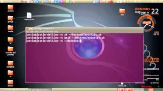 run a sh script in ubuntu 12.04