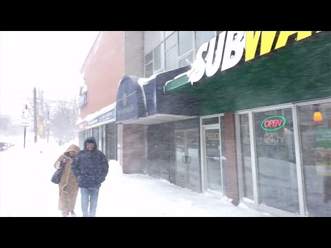 Halifax Snow Storm Walking , NS , Canada