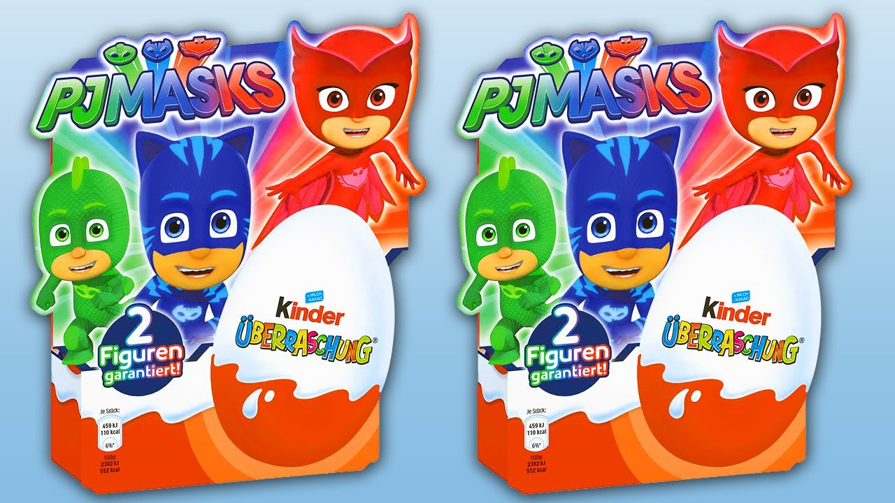 8 Kinder Surprise PJ MASKS, 2 Packs of Surprise Eggs PJMASK