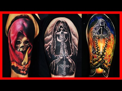 BEST DEATH TATTOOS FOR MEN 2018 | LIFE AND DEATH TATTOOS WOMEN | COOL GRIM REAPER TATTOOS TIME LAPSE