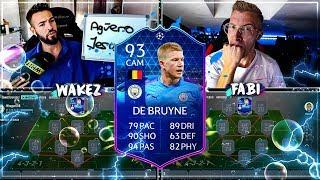 FIFA 20: TOTGS DE BRUYNE Squad Builder Battle 🔥🔥 Wakez vs Fabiskill !!