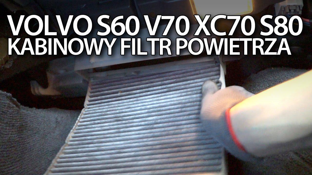 2016 Volvo S80 >> Volvo S60 V70 XC70 S80 wymiana kabinowego filtra powietrza - YouTube