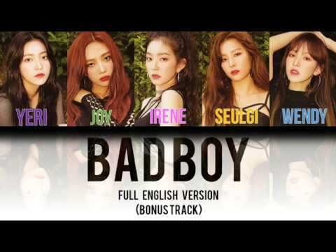 Red Velvet (레드벨벳) - Bad Boy FULL English Version [Color Coded Lyrics]