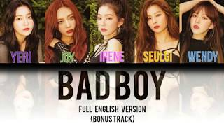 Download Lagu Red Velvet (레드벨벳) - Bad Boy FULL English Version [Color Coded Lyrics] MP3