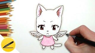 Рисуем кошку Шарли (Чарли) из аниме Хвост Феи | Как нарисовать Шарли (высший)(Как нарисовать кошку Шарли (Чарли). В этом видео я показываю как нарисовать кошку Шарли из аниме