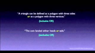 Propositional Logic: Disjunctions Thumbnail