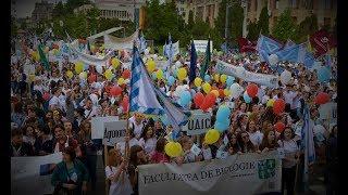 """Studenții ieșeni la """"Marșul Absolvenților"""" 2018"""