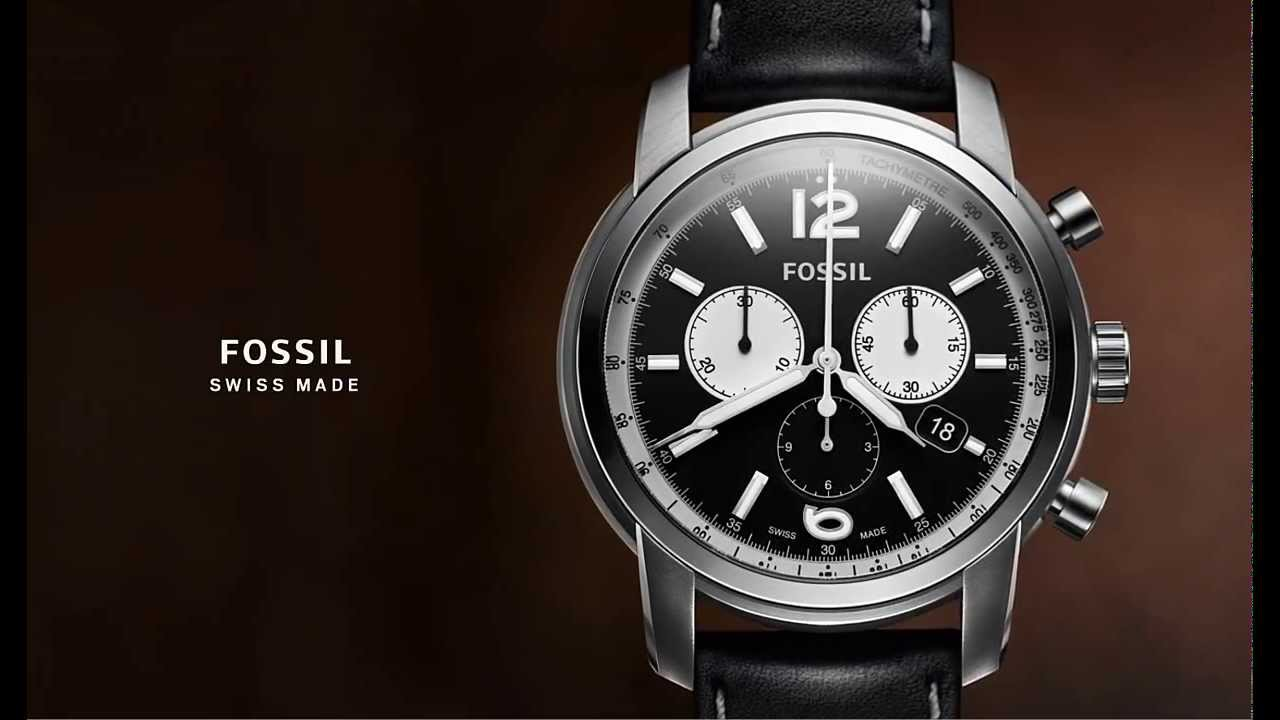 Connu Montres Fossil Swiss Collection - YouTube EJ03