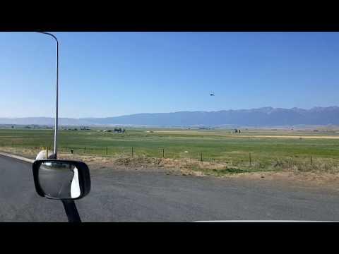 BigRigTravels LIVE! Near Baker City, Oregon - Interstate 84 East Rest Area