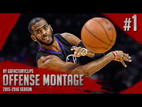 Chris Paul Offense Highlights Montage 2015/2016 (Part 1) - POINT-GOD, CRAZY Crossovers!