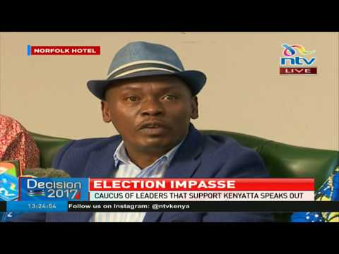 Caucus of leaders allied to president Kenyatta call for dialogue to fix the election crisis
