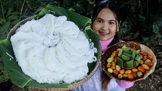 Awesome Cooking : Khmer/Cambodian Noodle Salad With Pork Ball Delicious Recipe - Eating Food Show