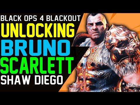 BLACKOUT UNLOCKING IX CHARACTERS - IX BRUNO IX SCARLETT IX SHAW IX DIEGO - BO4 Characters