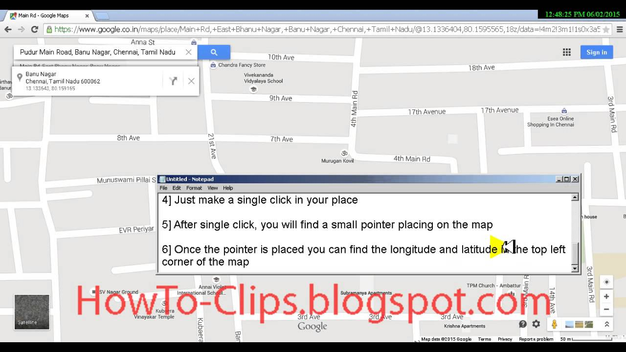 How To Find Latitude And Longitude For A Place Or Address On A Map - Map using latitude and longitude to find a place