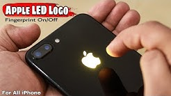 How to make Fingerprint Apple Glowing Logo | Iphone Touch Logo