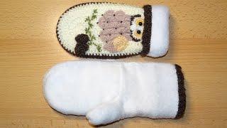 видео Варежки из флиса выкройка своими руками, как сшивать и утеплять варежки, шитье рукавичек