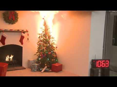 Christmas Tree Fire Youtube