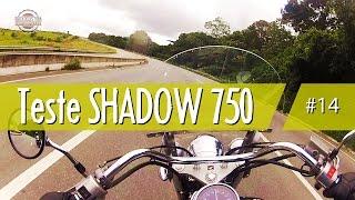 Teste drive Shadow 750 # Motovlog Baixo Custom