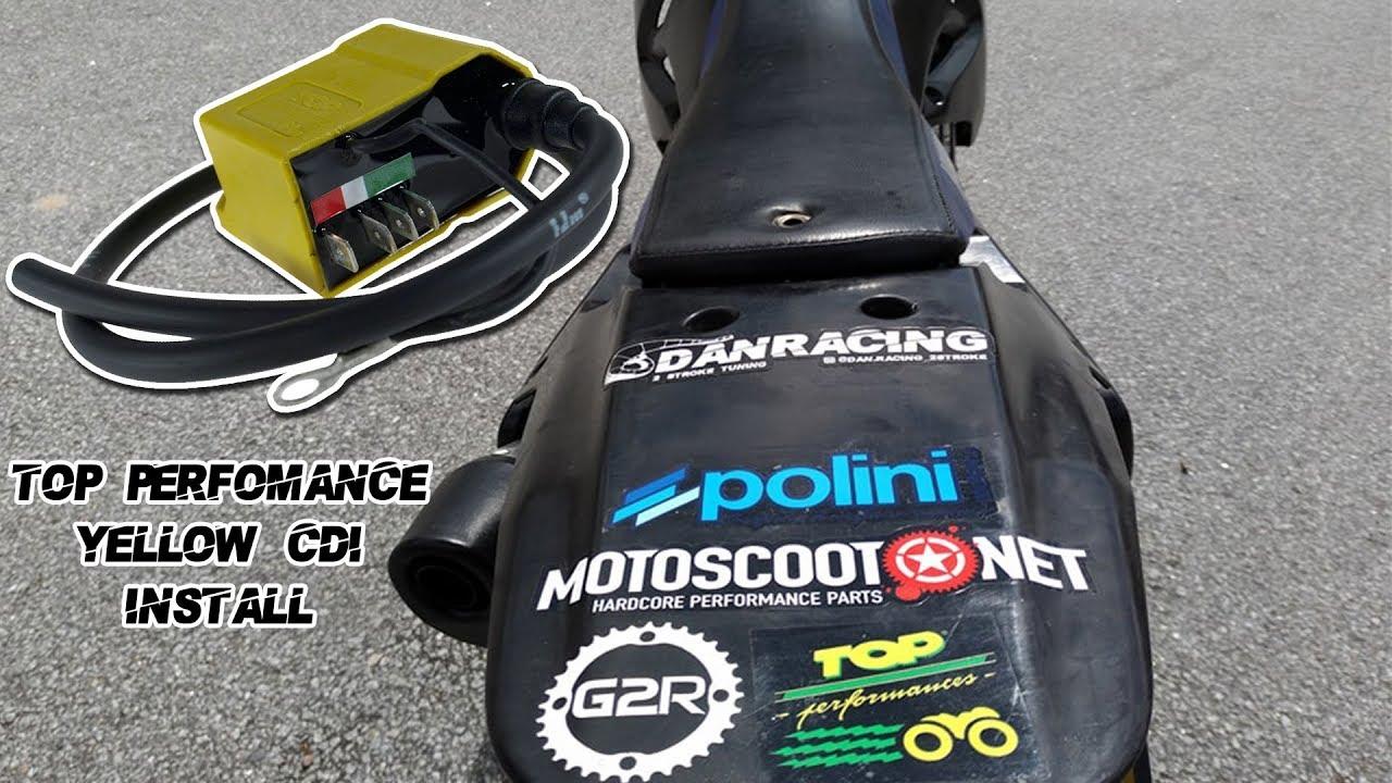 Ducati CDI Zündbox ungedrosselt Top Performances für Minarelli AM6 Derbi Senda