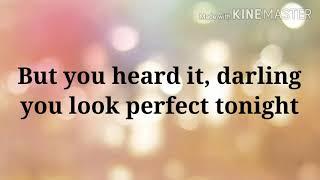 Perfect lyrics video Ed Sheeran
