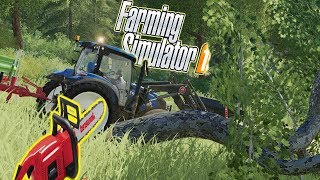 FARMING SIMULATOR 19 #28 - ABBATTO L'ALBERO! - GAMEPLAY ITA