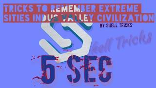Tricks to Remember Extreme Sites of Indus Valley Civilization by Shell Tricks